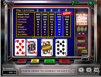 Pick 'em Poker - Free Online Casino Game by Video Poker